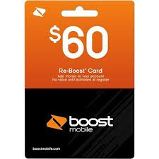 Boost Mobile $60 Reboost Refill Card (Mail
