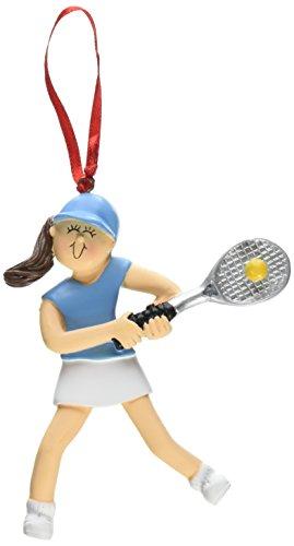 Ornament Central OC-073-FBR Female Tennis Figurine