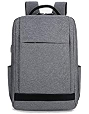 YSDHE Double Shoulder Computer 15.6 Inch Packet Male and Female USB Charging Port Large Capacity Backpack Casual Waterproof Travel Bag (Color : #4)