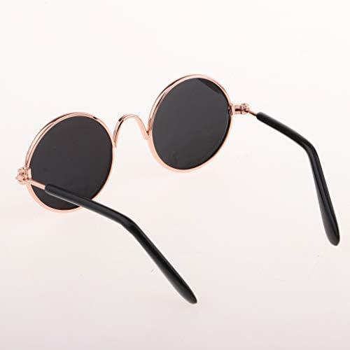 眼鏡 ドールメガネ サングラス 人形メガネ 飾り 1/6 BJD ブライス人形用 - ブラウン