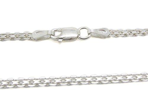 [925 Sterling Silver 2.2 mm Bismark Chain Size: 16 18 20 22 24 inch (20