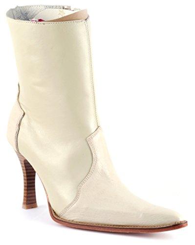 Women Luxury Beige Ostrich Leather Dress Boot Shoe High Heel 7HcVPuE