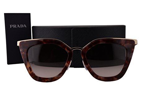 Prada PR53SS Sunglasses Spotted Brown Pink w/Brown Gradient Pink Lens UE00A6 - Pr53ss