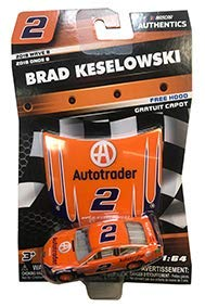 (NASCAR Authentics Brad Keselowski #2 Diecast Car 1/64 Scale - 2018 Wave 8 with Mini Hood - Collectible)