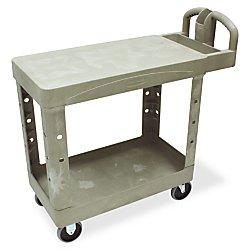 (Flat Shelf Cart,5 quot; Casters,2 Locking,38 quot;x19 quot;x33 quot;,500 lb.,BG )
