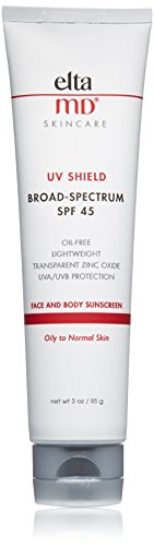 EltaMD UV Shield Facial Sunscreen Broad-Spectrum SPF 45, Oil-free,  Dermatologist-Recommended Mineral-Based Zinc Oxide Formula, 3.0 oz