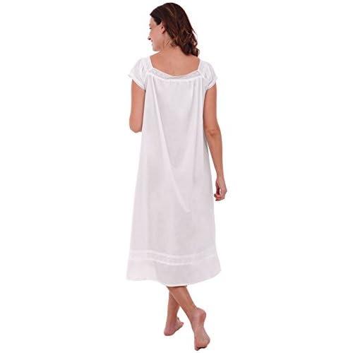 Del Rossa Womens Adele Cotton Nightgown b00c8ccf8