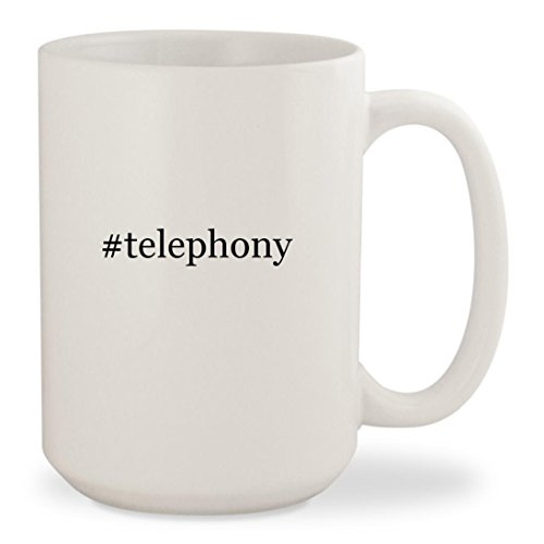 #telephony - White Hashtag 15oz Ceramic Coffee Mug Cup