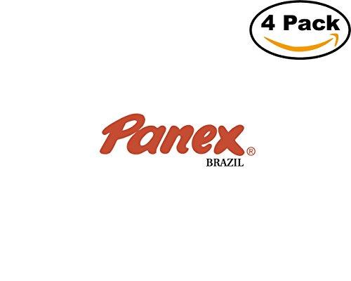 Panex 4 Stickers 4X4 Inches Car Bumper Window Sticker Decal