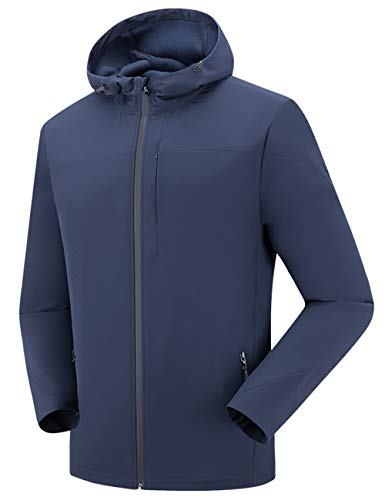 - Men's Windproof Softshell Cycling Winter Jacket Blue XL
