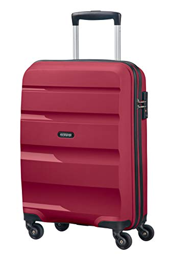 American Tourister Bon Air - Spinner Small Strict Equipaje de Mano, 55 cm, 31.5 Liters, Rojo (Burgundy Purple): Amazon.es: Equipaje