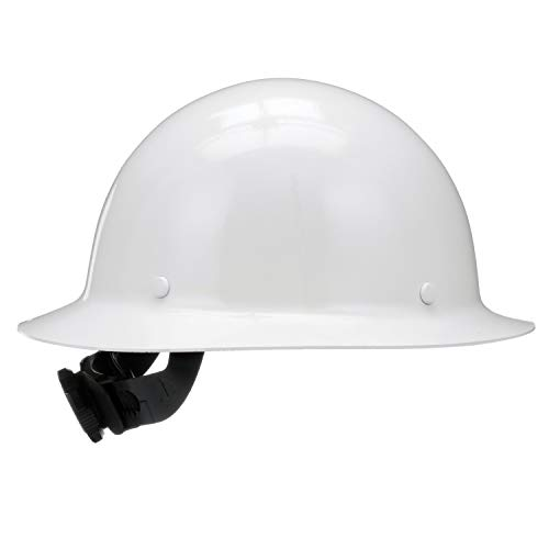MSA 475408 Skullgard Protective Hard Hat Full Brim, Fas-Trac III Suspension, Standard Size, White by MSA (Image #4)