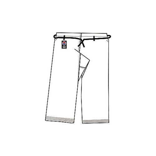 ProForce Gladiator 12oz Karate Pants w/ Traditional Waist - White - Size 3 (Gi Gladiator)