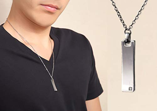 (Magnetic Therapy Necklace for Men Neck and Shoulder Pain Neck Pain Causes Massage Pure Loop Oz Square Made in Japan)