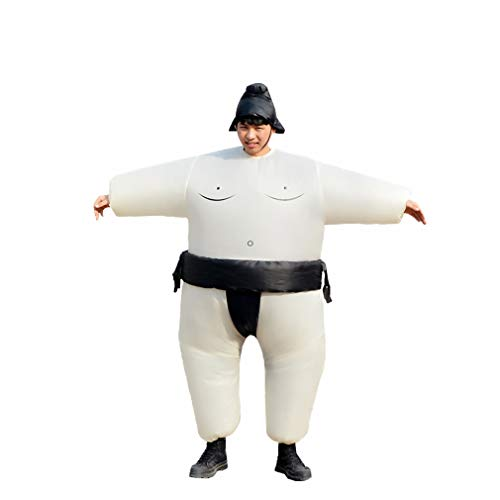 Special Costume for Performance of Funny Sumo Inflatable Suit Wrestler Wrestling Suits Blow Up Suit for Adult Black]()