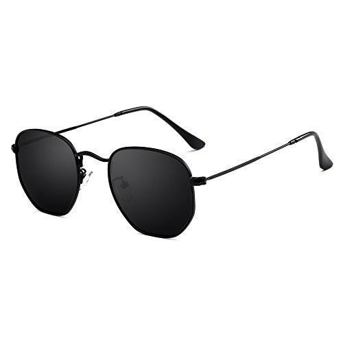 AIMADE Unisex Hexagonal Polarized Sunglasses UV400 - Best Rectangular For Sunglasses Face