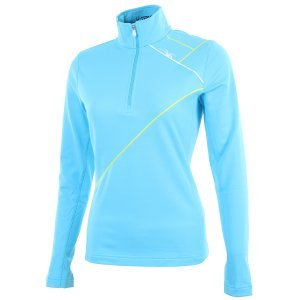 Women's Flicker Therma Stretch T-Neck (Splash/Taxi/White) (Thermal Underwear Spyder compare prices)