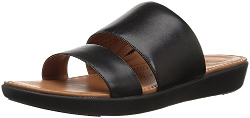 Fitflop Dames Delta Slide Plat Sandaal Zwart