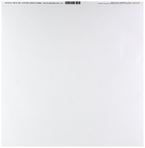 Vellum 12x12 Paper - Bazzill Basics Paper 25 Sheets of 12 x 12 Inch White 29 Lb Vellum Bazzill Basics, Piece