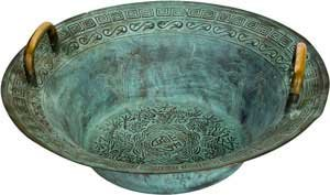 Fortune Telling Toys Tibetan basin Dragon Pattern Spiritual Ritual Supplies by RBI (Image #1)