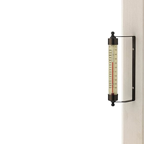 Continental T1BP-CA Conant 7 Indoor/Outdoor Thermometer-Bronze