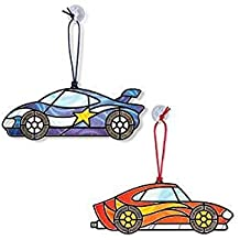 Stained Glass Race Cars+Build a Race Car+a FREE Mini Scratch Art from Little Folks