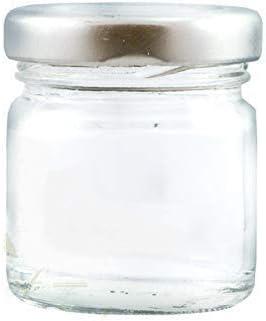 Paquete de mini tarros de vidrio de 100 x 41 ml con tapas plateadas: perfecto para muestras, pequeños regalos y regalos de boda