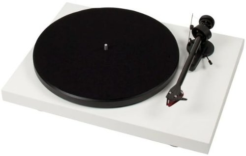 Pro-Ject Debut Carbon DC Turntable with Ortofon 2M Red Cartridge (Gloss White)]()