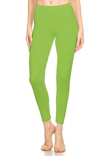Girls Lime Green Leggings - Stretch Cotton Bodysuit Activities Girls' Soft