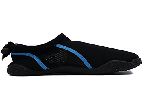 Entsetzte Männer Aqua Schuhe mit Kordelzug und Toggle Schwarz / Türkis