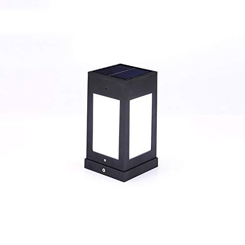 forma unica HDMY Colonna solare faro piazza piazza piazza esterna impermeabile per uso domestico Pilastro luce moderna minimalista cortile post lampada della lanterna (Colore   Cold light)  marchi di moda