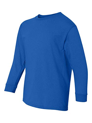 Gildan 5400B Youth Heavy Cotton Long Sleeve T-Shirt (Royal, ()