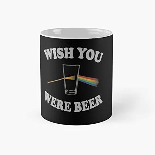 WISH YOU WERE BEER Mug, wish you were beer Cup, 11 Ounce Ceramic Mug, Perfect Novelty Gift Mug, Funny Gift Mugs, Funny Coffee Mug 11oz, Tea Cups 11oz ()