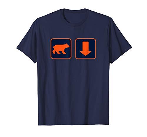 Orange Bear and Arrow Pointing Down T Shirt