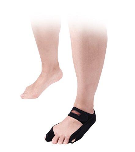 Aider Bunion Support, Comprehensive Bunion Corrector & Bunion Relief ToePal kit-5 Piece Hallux Valgus & Bunion Pads, Toe Spacers, Toe Separators, Bunion Splint, Toe Straightener (Left (black)) by Aider (Image #2)