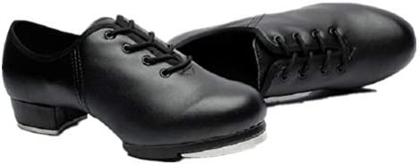 Toddler,Little Kid Black Size BeiBestCoat Beginner Tap Dance Shoe-Jazz Tap Dacncing Shoes for Girls,Boys
