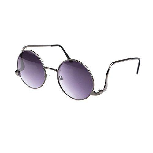 LIKEOY Unisex Retro Lennon Style Round Rimmed UV400 Sunglasses - Kardashian Sunglasses Visor Kim