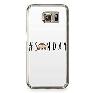 Samsung Galaxy S6 Transparent Edge Phone Case Sunday Phone Case Weekend Phone Case Motivation Phone Case Emoji Samsung S6 Cover with Transparent Frame