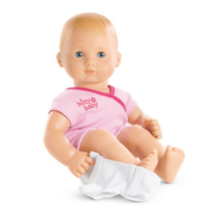 American Girl - Bitty Baby Doll Light Skin Blond Hair Blue Eyes BB3 with Pink Bodysuit (Little Girl With Brown Hair And Blue Eyes)