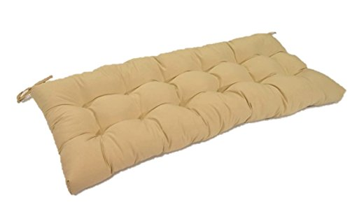Resort Spa Home Decor Tan Solid Tufted Cushion for Bench, Swing, or Glider, Choose Select Size 38 x 18