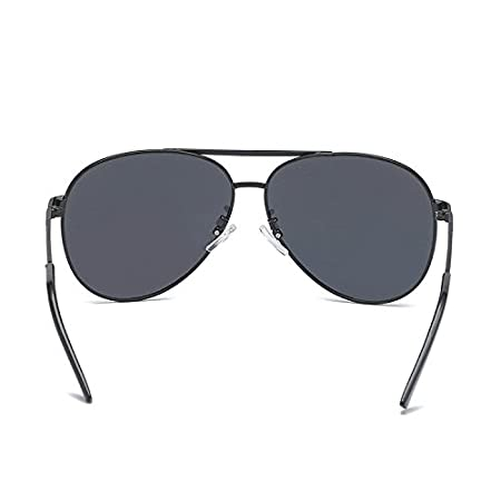 Aoligei Doppel-Farbe Galvanik Man polarisierte Sonnenbrille Sonnenbrille-Pilot Sonnenbrillen mlRgztLs
