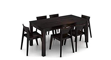 Krishna Wood Decor Sheesham Wood Dining Table 6 Seater | Dinning Table with 6 Chairs | Dining Room Furniture | Modern…