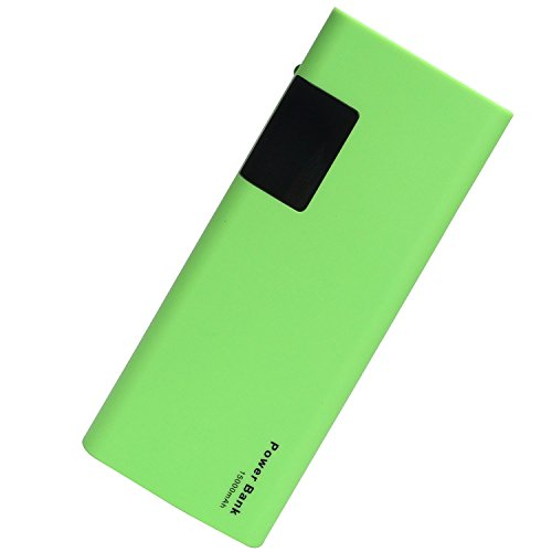 BULL High Capacity 15000mAh New Universal Power Bank / Portable Charger / Extended Battery with LCD Display and LED Light for Laptops,Netbook,Cell Phones, iPhone, Tablets,MP3,Cameras,Gopro (green)
