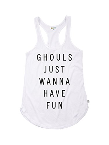 Tipsy Elves Women's Ghost Shirt - Ghost Halloween Costume Tank Top: XX-Large White ()