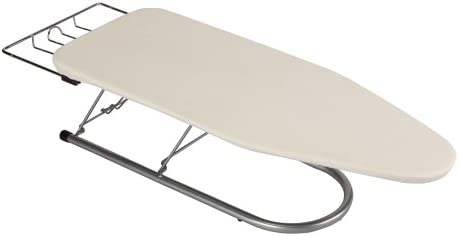 B001D4AJL2 Household Essentials 131210 Small Steel Table Top Ironing Board with Iron Rest | Natural Cover 31UYDxCI8GL