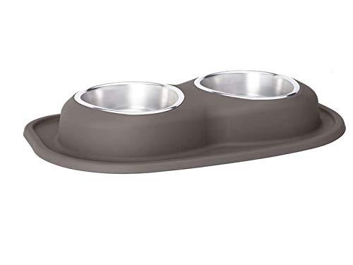 Dark Brown 0.95LPetComfort Double Bowl 100% NonToxic, 100% Safe, Ergonomic, Black, Choose Your Size
