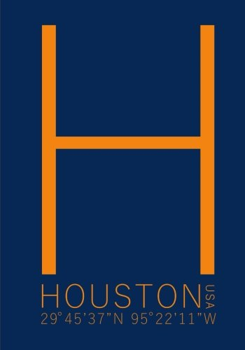 Read Online Houston Minimalist Typography Notebook: 7 x 10 Inch Notebook/Journal with the City of Houston Coordinates PDF