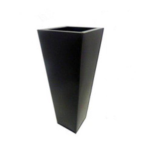 PMJC Company Black Zinc Galvanized Metal Tall Tapered Planter Pot, 18''