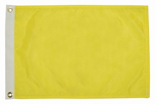 Premium Quality Yellow Q Quarantine Quebec Bahamas ICS Courtesy Boat Flag (12 inches x 18 inches) (Country Flag Bahamas)