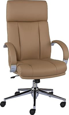 Staples Monetta Luxura Home Office Chair, Tan Brown by Staples
